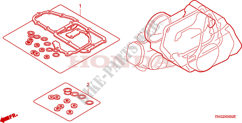 Honda SCOOTER 125 INNOVA 2005  ANF1255 Engine GASKET KIT B