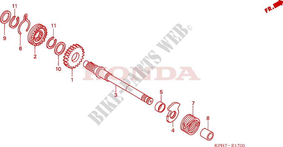 KICKSTARTER AXLE for Honda INNOVA 125 2006