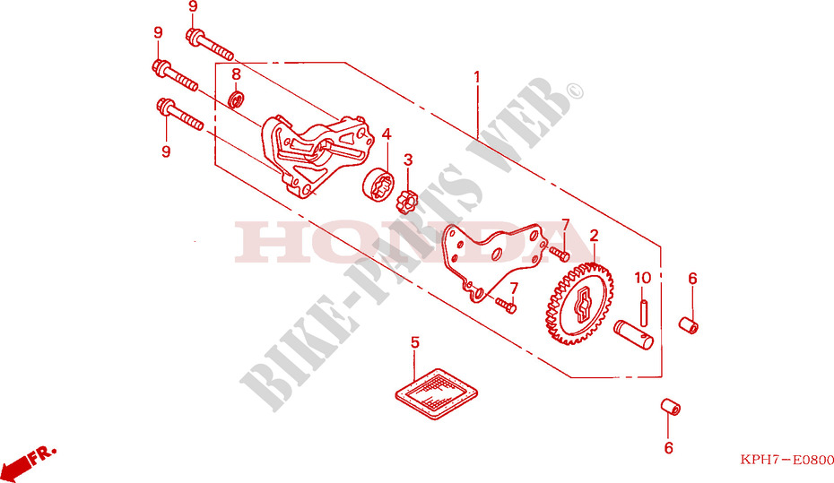 OIL PUMP for Honda INNOVA 125 2006
