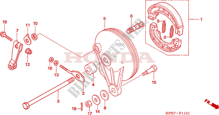 Rear Brake Panel  Anf1256  7  T6  For Honda Innova 125 2009