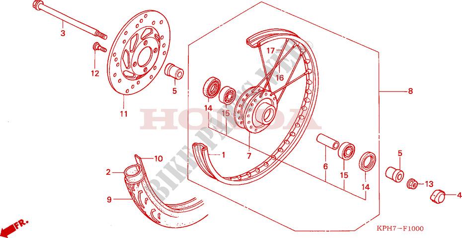 Rear Wheel For Honda Innova 125 2005   Honda Motorcycles