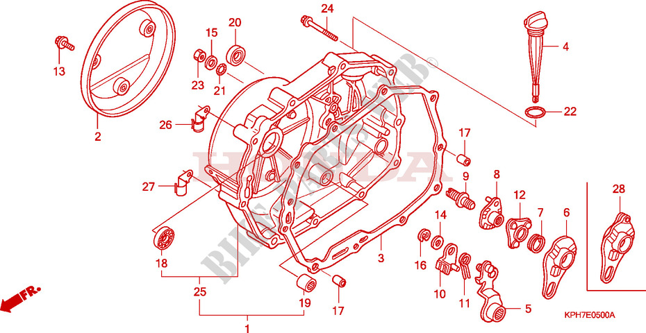 Honda SCOOTER 125 INNOVA 2005  ANF1255 Engine RIGHT CRANKCASE COVER