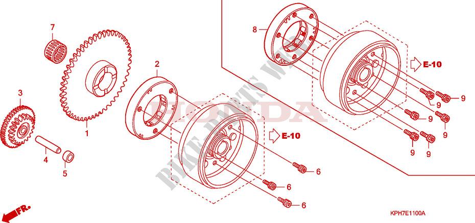 Starter Motor Clutch For Honda Innova 125 2008   Honda