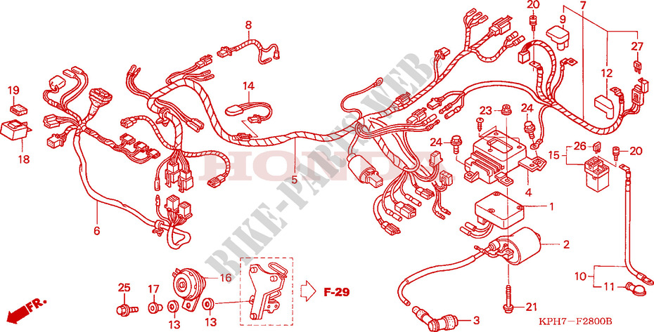 Wire Harness  1  For Honda Innova 125 2003   Honda