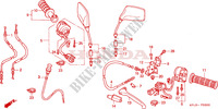 HANDLE LEVER/SWITCH/CABLE Frame 250 honda-motorcycle CB 2001 F__0300