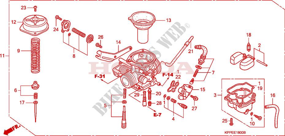 honda moto 125 cbr 2004 cbr125r4 engine carburetor