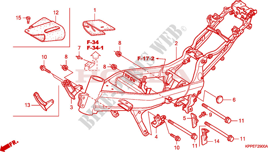 Frame Body For Honda Cbr 125 2004   Honda Motorcycles
