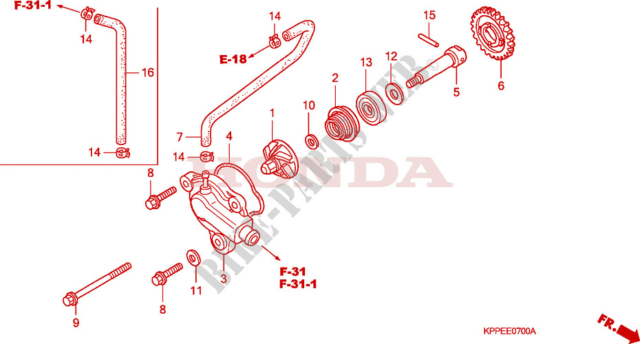 Pleasing Water Pump Engine Cbr125R4 2004 Cbr 125 Moto Honda Motorcycle Wiring 101 Ferenstreekradiomeanderfmnl
