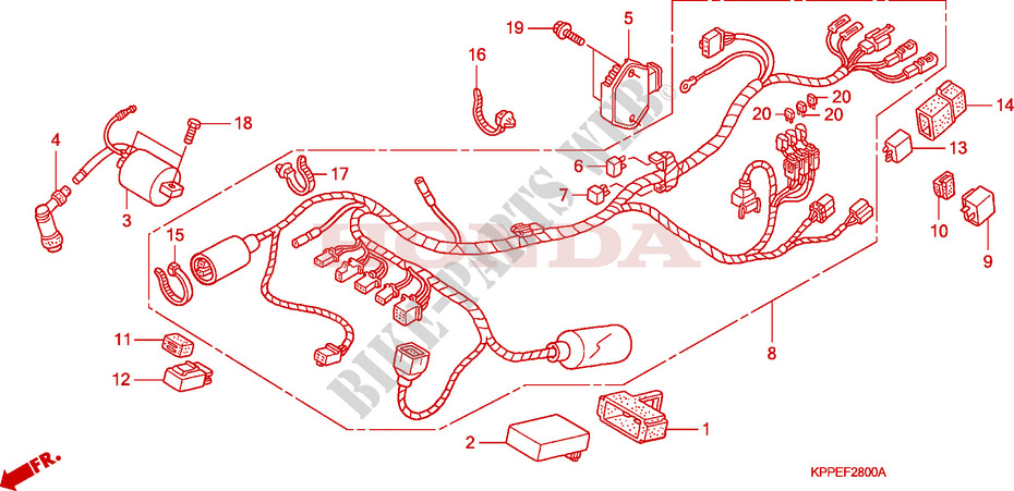 Wire Harness  Cbr125r  Rs  Rw5  Rw6  Rw8  For Honda Cbr 125 Repsol 2005   Honda Motorcycles  U0026 Atvs