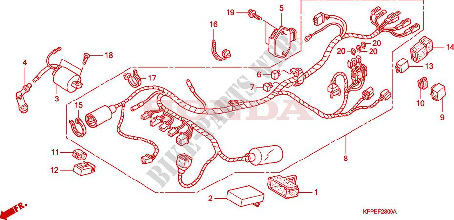 WIRE HARNESS (CBR125R/RS/RW5/RW6/RW8) for Honda CBR 125 2005