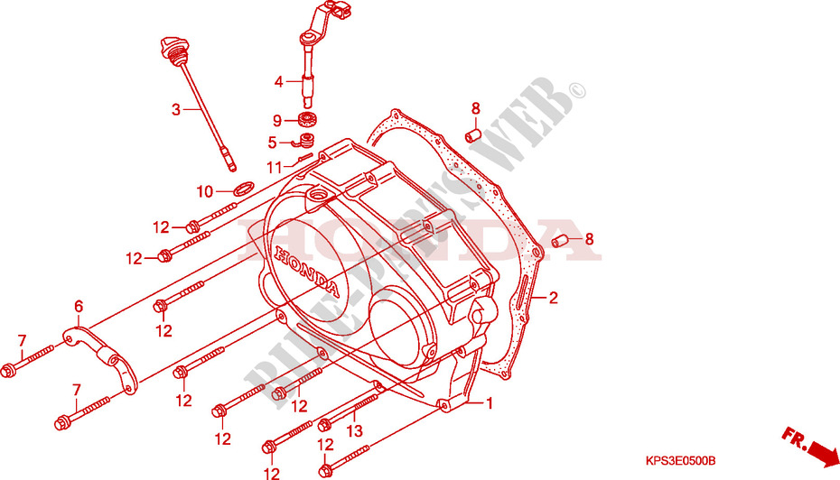 Right Crankcase Cover For Honda Crf 230 F 2009   Honda