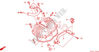CYLINDER HEAD COVER(XR125 L4,5,6,A) Honda motorcycle microfiche diagram XR125L6 2006 XR 125 L Electric start