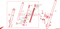 FRONT FORK Honda motorcycle microfiche diagram XR125L6 2006 XR 125 L Electric start