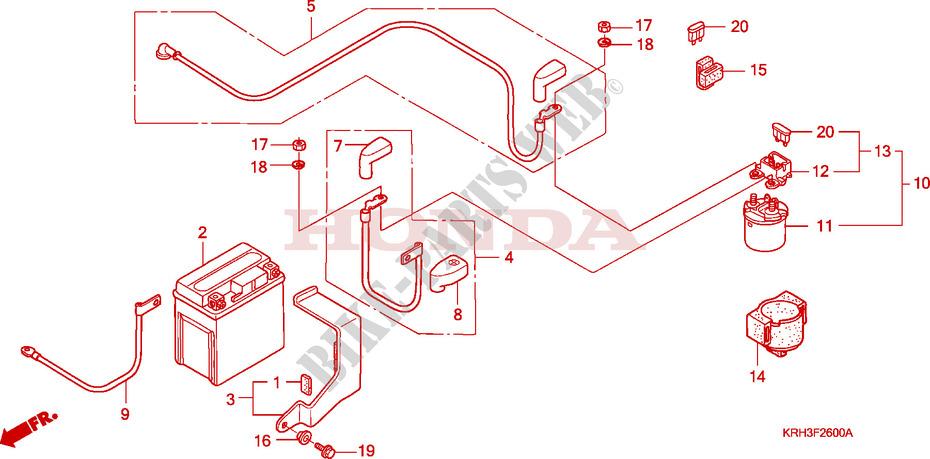 Battery For Honda Xr 125 L Electric Start 2003   Honda Motorcycles  U0026 Atvs Genuine Spare Parts