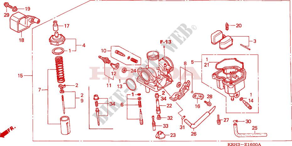 CARBURETOR Engine XR125L3 2003 XR 125 MOTO Honda motorcycle # HONDA