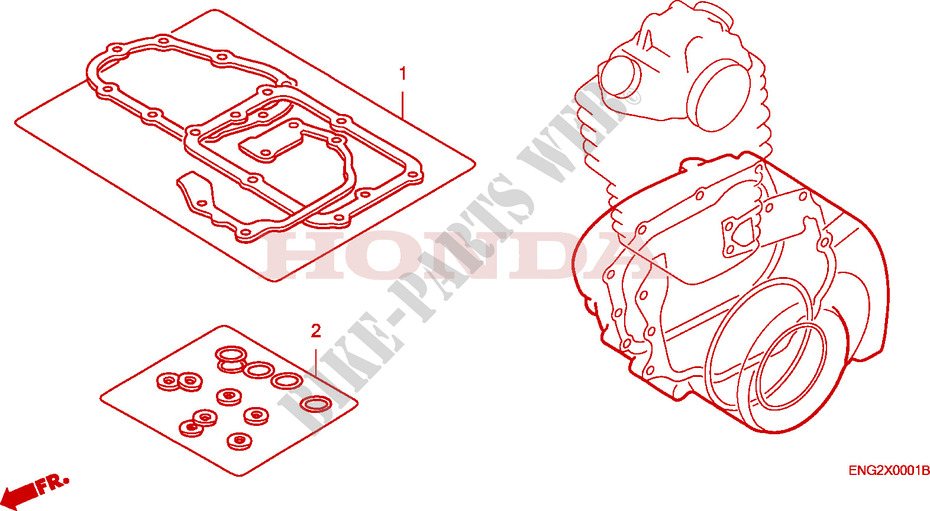 GASKET KIT B Honda microfiche motorcycle  2005 XR 125 L Electric start