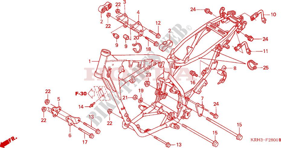 Frame Body For Honda Xr 125 L Electric Start 2005   Honda Motorcycles  U0026 Atvs Genuine Spare Parts