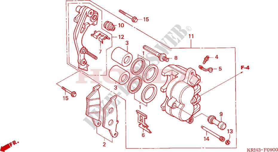 Front Brake Caliper For Honda Xr 125 L Electric Start 2003   Honda Motorcycles  U0026 Atvs Genuine