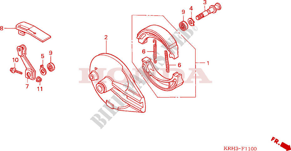 2005 Rear Brake Light Switch Honda XR 125 L5