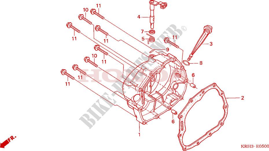 Right Crankcase Cover For Honda Xr 125 L Electric Start 2003   Honda Motorcycles  U0026 Atvs Genuine