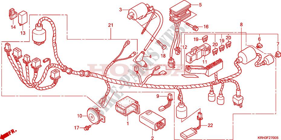 honda moto 125 xr 2004 xr125l4 frame wire harness