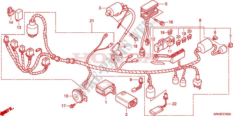 wire harness for honda xr 125 l electric start 2006. Black Bedroom Furniture Sets. Home Design Ideas