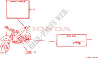 CAUTION LABEL Frame 250 honda-motorcycle CRF 2004 F__2500