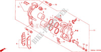 FRONT BRAKE CALIPER Frame 250 honda-motorcycle CRF 2004 F__0700