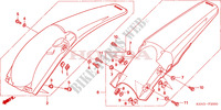 REAR FENDER Frame 250 honda-motorcycle CRF 2004 F__2000