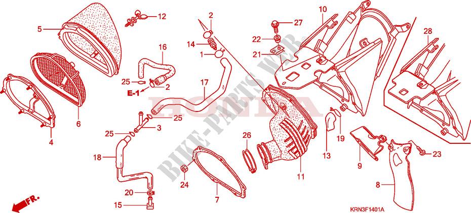 Air Cleaner  Crf250r6  7  8  9  For Honda Crf 250 R Red 2009   Honda Motorcycles  U0026 Atvs Genuine