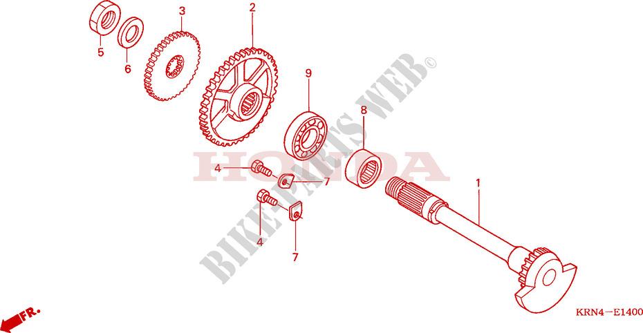 Balancer For Honda Crf 250 R 2006   Honda Motorcycles  U0026 Atvs Genuine Spare Parts Catalog