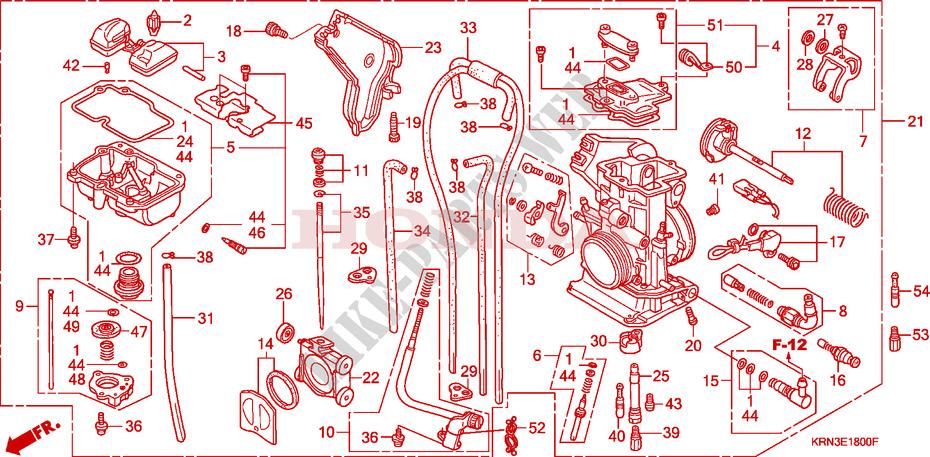Carburetor For Honda Crf 250 R 2007   Honda Motorcycles