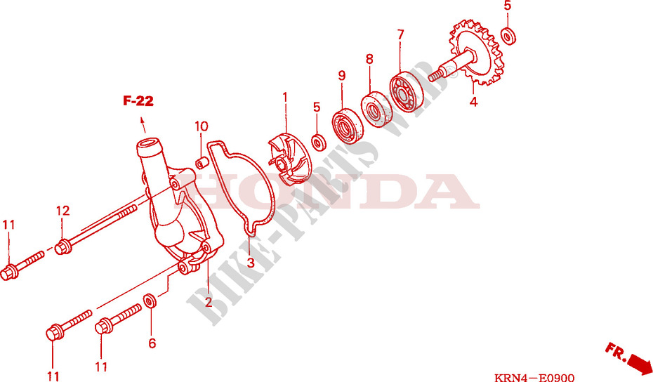 Water Pump Engine Crf250r9 2009 Crf 250 Moto Honda Motorcycle. Honda Moto 250 Crf 2009 Crf250r9 Engine Water Pump. Honda. Honda Crf 250 Engine Diagram At Scoala.co