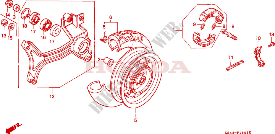REAR WHEEL (2) for Honda CN 250 HELIX 1993 # HONDA ... on oh diagram, ac diagram, cd diagram, vn diagram, pe diagram, vg diagram, ar diagram, ba diagram, ct diagram,