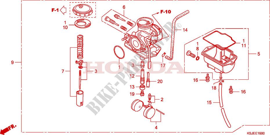 Pleasing Carburetor Crf80F Engine Crf80F8 2008 Crf 80 Moto Honda Motorcycle Wiring Digital Resources Helishebarightsorg