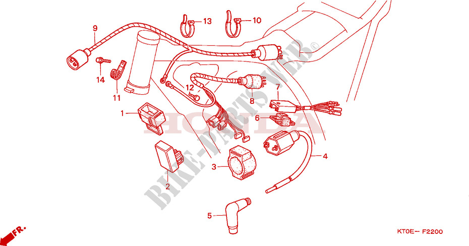 Honda Xr200 Wiring Harness Diagram - Wiring Diagram Perfomance on