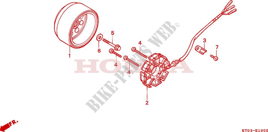 Alternatore Honda XR 600/R 200/Watt