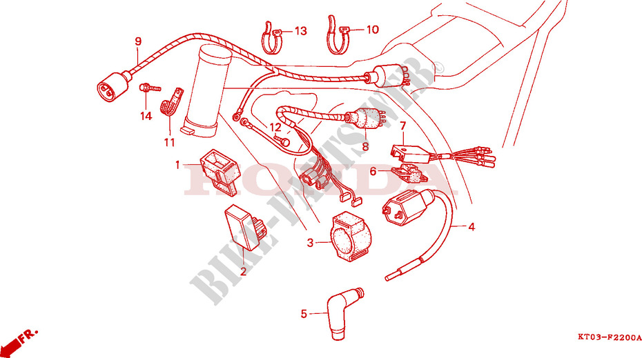 Wire Harness Ignition Coil For Honda Xr 200 R 1999   Honda