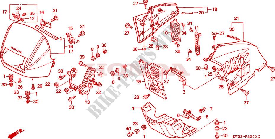 Honda Moto 250 Nx 1988 Nx250j Frame Cowl: Honda Nx 250 Wiring Diagram At Eklablog.co