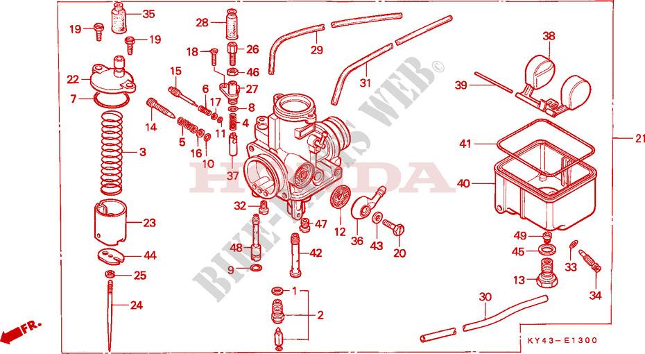 Carburetor For Honda Nsr 125 R 1992   Honda Motorcycles  U0026 Atvs Genuine Spare Parts Catalog