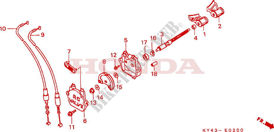 Exhaust Valve For Honda Nsr 125 R 1990   Honda Motorcycles  U0026 Atvs Genuine Spare Parts Catalog