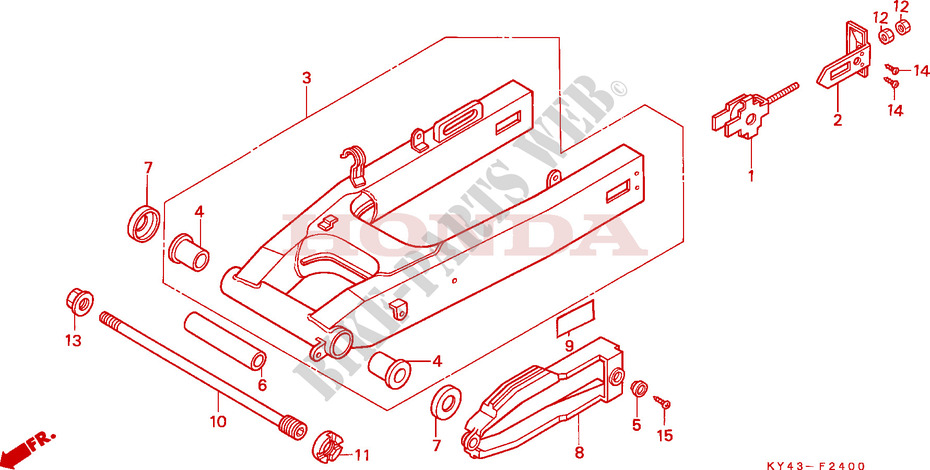 swinging arm, swingarm Honda NSR125 1988-2001  Swing Arm Socket Tool