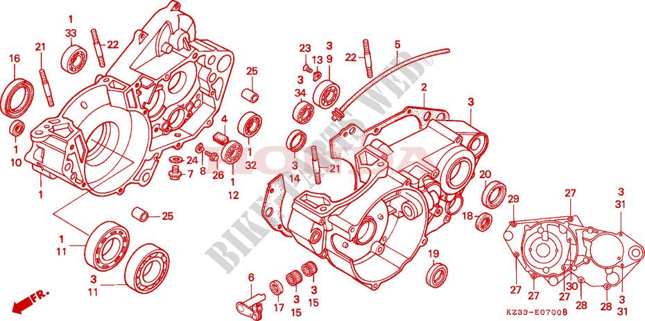 Crankcase Engine Cr250rl 1990 Cr 250 Moto Honda Motorcycle. Honda Moto 250 Cr 1990 Cr250rl Engine Crankcase. Honda. Honda Cr 250 Engine Diagram At Scoala.co
