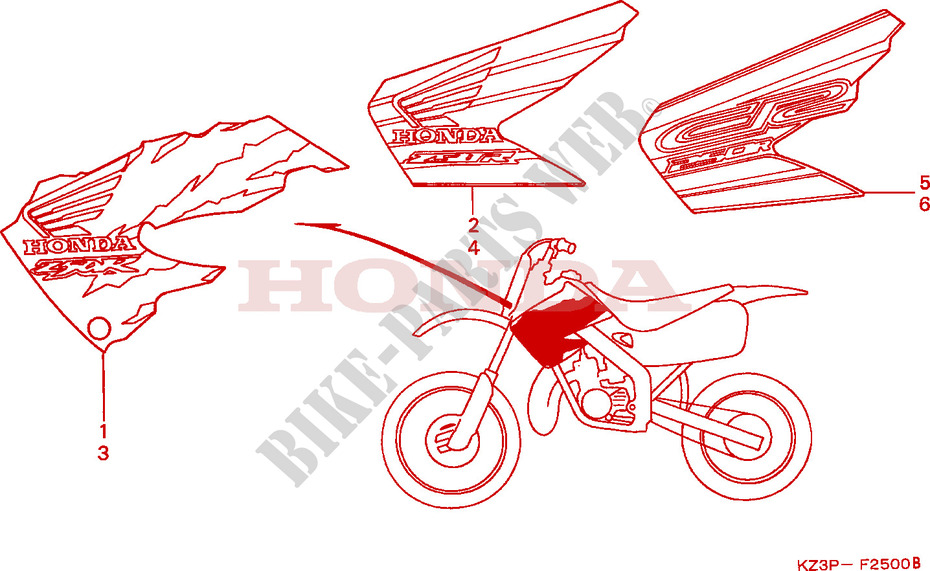 MARK Frame CR250RV 1997 CR 250 MOTO Honda motorcycle # HONDA