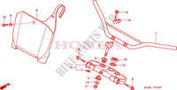 HANDLE PIPE/TOP BRIDGE (CR125R2,3) Frame 125 honda-motorcycle CR 2003 F__0300
