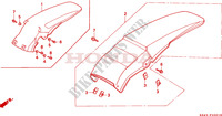 REAR FENDER (EXCEPT CR125RL) Frame 125 honda-motorcycle CR 1997 F__2001