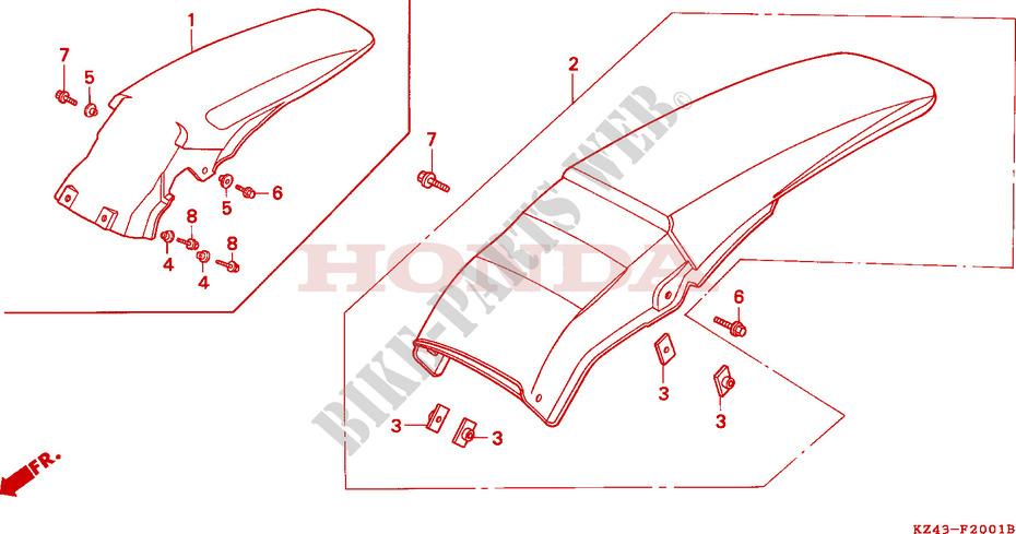 /1994 Honda CG 125/K Brazil STD and mordazas de freno trasera 1989/