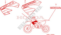 MARK Frame 125 honda-motorcycle CR 2001 F__2500