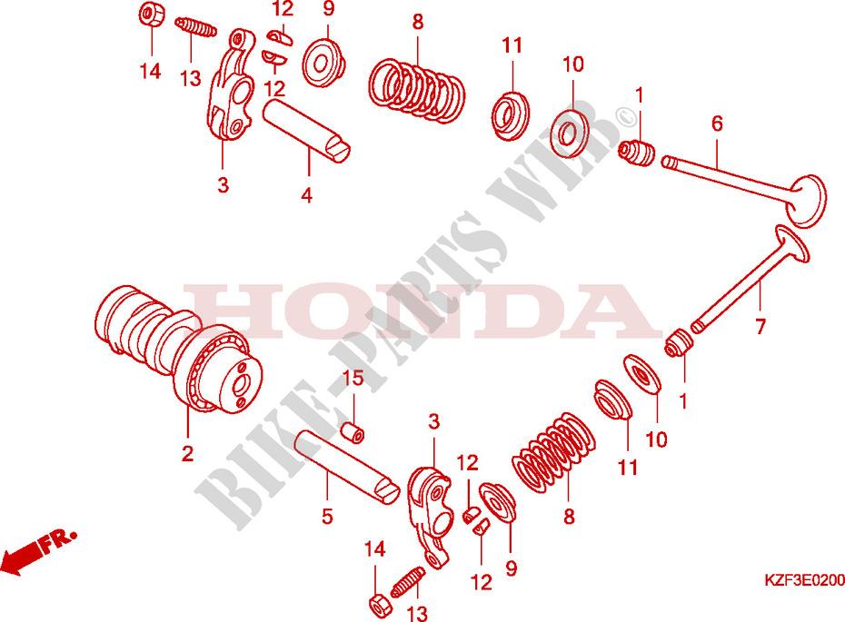 Astounding Camshaft Valve Engine Anf125A 2011 Innova 125 Scooter Honda Wiring Database Gramgelartorg