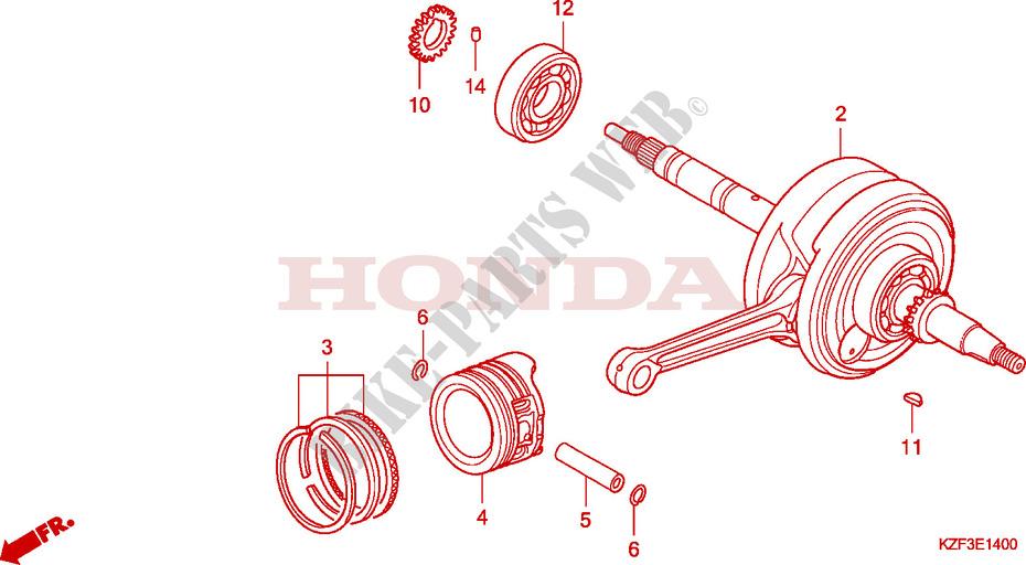 Crankshaft For Honda Innova 125 2010   Honda Motorcycles